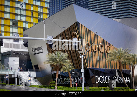 Las Vegas, Paradise, Nevada USA, Luxus Designer Shops in Kristallen - Stockfoto