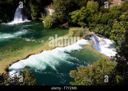 Nationalpark Krka Wasserfall - Stockfoto