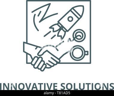 Innovative Lösungen vektor Symbol Leitung, lineare Konzept erläutern, Zeichen, Symbol - Stockfoto