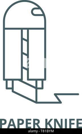 Papier Messer vektor Symbol Leitung, lineare Konzept erläutern, Zeichen, Symbol - Stockfoto