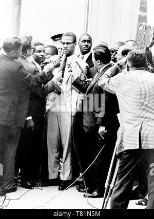 Malcolm X, Amerikanische Minister und Aktivist - Stockfoto