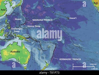 Marianengraben Karte