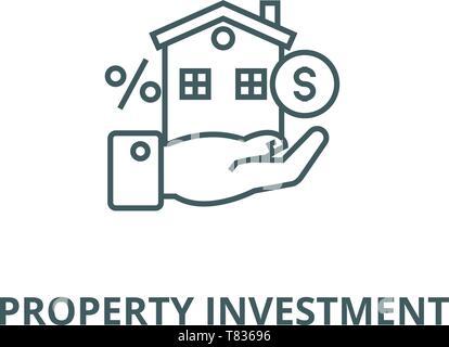 Eigenschaft Investition vektor Symbol Leitung, lineare Konzept erläutern, Zeichen, Symbol - Stockfoto