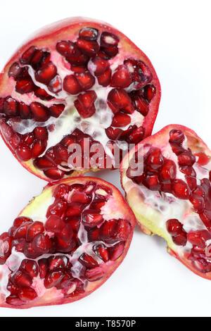 Frische Risse Granatapfel Samen - Stockfoto