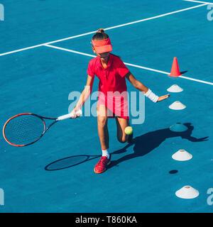 Tennis Training - Stockfoto