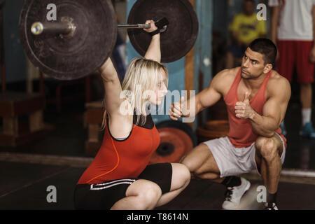 Gewichtheben-training - Stockfoto