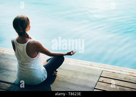 Frau, meditieren - Stockfoto