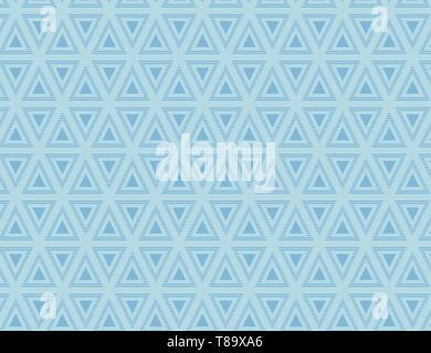 Nahtlose Muster der abwechselnd Gerade und Oben blaue Dreiecke in Line Design Business Konzept leere Raum modernen abstrakten Hintergrund - Stockfoto
