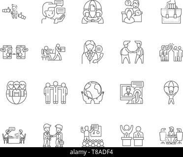 Business Ethics Line Symbole, Zeichen, Vektor, Abbildung: Konzept - Stockfoto