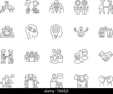 Engagement Zeile für Symbole, Zeichen, Vektor, Abbildung: Konzept - Stockfoto