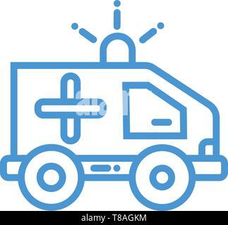 """Krankenwagen vektor Symbol """"Bearbeitbar"""" für medizinische Gesundheitsversorgung oder Clinic Service. - Stockfoto"""