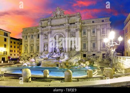 Roma - Trevi Brunnen, Italien - Stockfoto