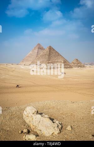 Pyramide von Gizeh Komplex in der Nähe von Kairo, Ägypten - Stockfoto