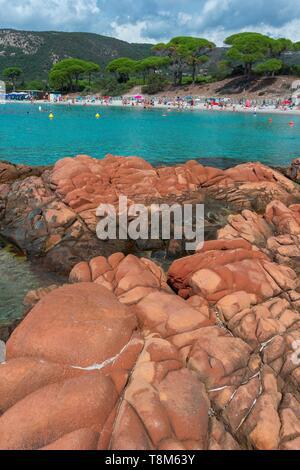 Frankreich, Corse-du-Sud Porto Vecchio Palombaggia Strand - Stockfoto