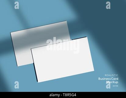 Mockup Branding Visitenkarten Vorlage Mit Vektor Schatten