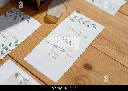 Hochzeit Einladung als gestalteten Brief in einem Umschlag im Stil von BOHO - Stockfoto