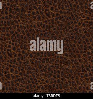 Nahtlose Textur aus braunem Leder 2 - Stockfoto