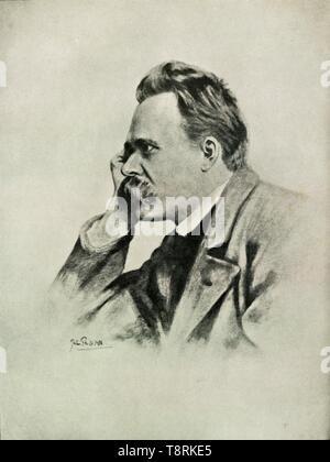 """""""Nietzsche"""", (1919). Schöpfer: Unbekannt. - Stockfoto"""