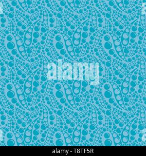 Hell abstrakt Vector nahtlose Muster mit natürlichen Luftblasen auf farbigen Hintergrund. Abstrakte farbenfrohe Ornament für Textilwaren, Drucke, Tapete, wrappi - Stockfoto