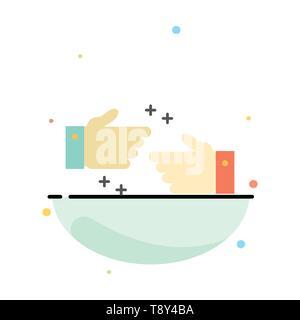 Handshake, getan, Ok, Business Abstract flachen Farbe Symbol Vorlage - Stockfoto
