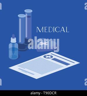 Medizinische Schläuche tests Drogen mit Bestellung - Stockfoto