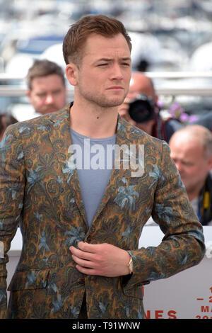 """Cannes, Frankreich. 16. Mai, 2019. 72. Filmfestival in Cannes 2019, Fotoshooting Film """"Rocketman"""" dargestellt: Taron Egerton Credit: Unabhängige Fotoagentur/Alamy leben Nachrichten - Stockfoto"""