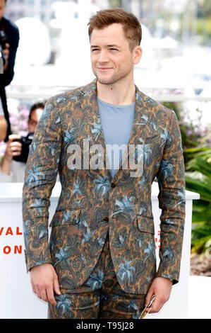 """Cannes, Frankreich. 16. Mai, 2019. Taron Egerton am """"Rocketman"""" fotoshooting während der 72Nd Cannes Film Festival im Palais des Festivals am 16. Mai 2019 in Cannes, Frankreich Quelle: Geisler-Fotopress GmbH/Alamy leben Nachrichten - Stockfoto"""