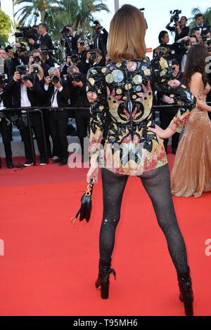 """Cannes, Frankreich. 16. Mai, 2019. CANNES, Frankreich. Mai 16, 2019: Eva Herzigova bei der Gala Premiere für """"Rocketman"""" am Festival de Cannes. Foto: Paul Smith/Alamy leben Nachrichten - Stockfoto"""