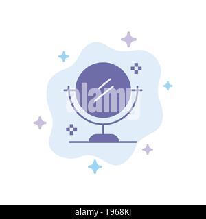 Spiegel, Reinigung, Sauber blaues Symbol auf Abstrakten Cloud Hintergrund - Stockfoto