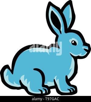 Cartoon bunny rabbit Vektor icon - Stockfoto