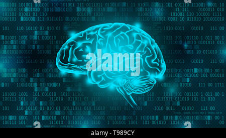 Künstliche Intelligenz der digitalen Hintergrund Konzept - Stockfoto
