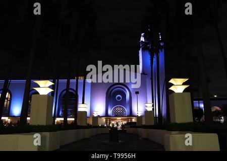 Union Station, Downtown von Los Angeles - Kalifornien Stockfoto