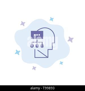 Planung, Theorie, Geist, Leiter blaues Symbol auf Abstrakten Cloud Hintergrund - Stockfoto