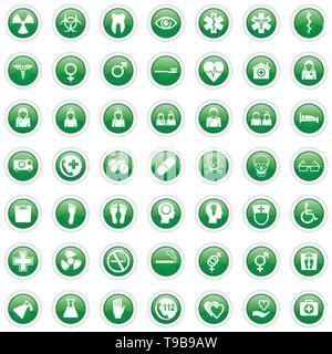 Gesundheitswesen und Medizin Vector Icons - Stockfoto