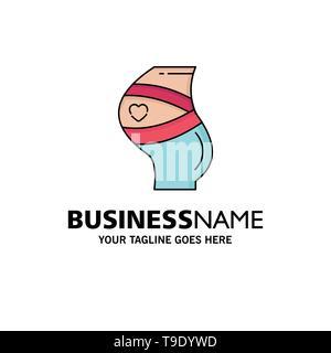 Riemen, Sicherheit, Schwangerschaft, schwanger, Frauen flach Farbe Symbol Vektor - Stockfoto