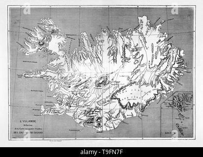 Karte Island Drucken.Karte Von Island Stockfoto Bild 119314136 Alamy