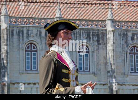 Iberischen Maske International Festival (FIMI). Parade der Kostüme und traditionelle Masken von Iberia. - Stockfoto