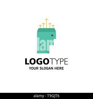 Hand Hypnose Daten Psychologie Blue Business Logo Und
