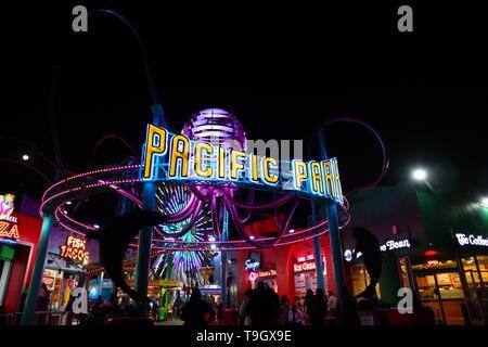 Santa Monica Pier - Santa Monica, Pacific Park, Los Angeles County, Kalifornien - Stockfoto