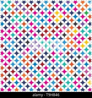Bunte Retro625 Diamond Form abstrakter Hintergrund Muster Textur. Moderne isolierte Konzept In der Pop Art Farben Spektrum - Stockfoto
