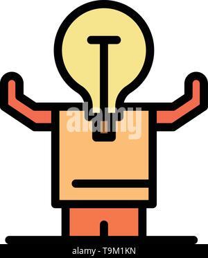 Business, Verbesserung, Mann, Person, möglichen flachen Farbe Symbol. Vektor icon banner Vorlage - Stockfoto
