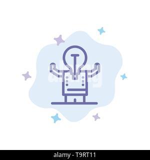 Business, Verbesserung, Mann, Person, Mögliche blaues Symbol auf Abstrakten Cloud Hintergrund - Stockfoto