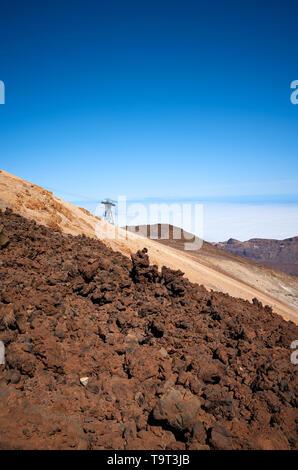 Mount Teide vulkanische Landschaft, den Nationalpark Pico del Teide, Teneriffa, Spanien. - Stockfoto