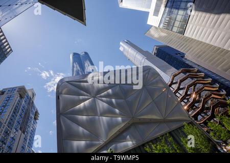 Der Schuppen, Schiff und anderen Wolkenkratzern, Hudson Yards, New York City, New York, USA. - Stockfoto