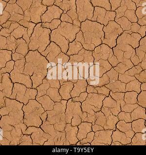Rissige Erde nahtlose Textur Fliese - Stockfoto