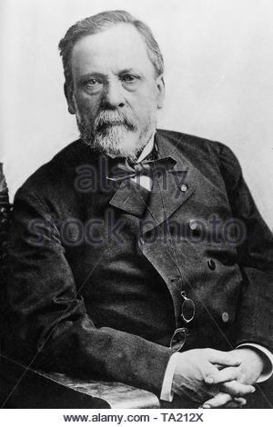 Louis Pasteur (1822-1895), französischer Bakteriologe. - Stockfoto