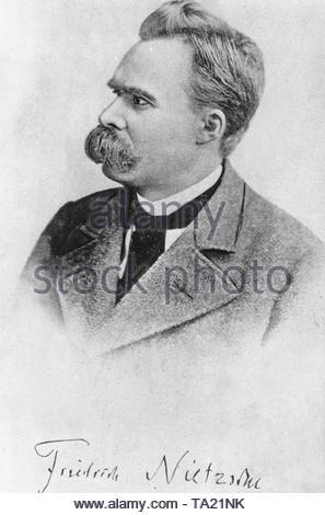 Friedrich (Wilhelm) Nietzsche (1844-1900), deutscher Philosoph und klassischer Philologe. - Stockfoto