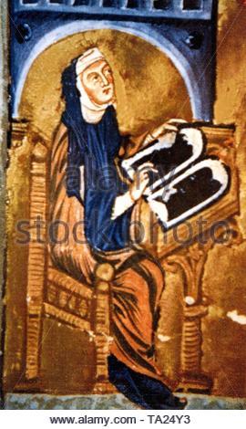 Hildegard von Bingen (1098 - 1179), der ersten deutschen Mystiker. - Stockfoto