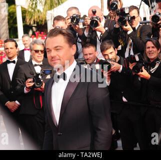 Cannes Film Festival 21 stMay an einem roten Teppich Leonardo Dicaprio - Stockfoto