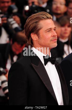 Cannes Film Festival 21 stMay an einem roten Teppich Brad Pitt - Stockfoto